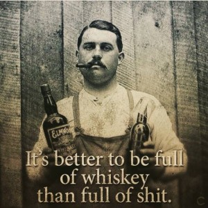 Fuld af whisky ikke shit
